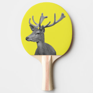 Woodland deer animal forest black and white photo ping pong paddle