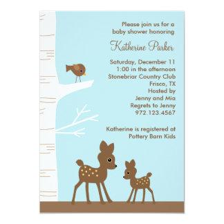 Woodland Deer Baby Shower Invitations