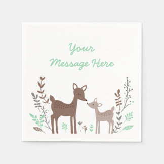 Woodland Deer Baby Shower Paper Serviettes