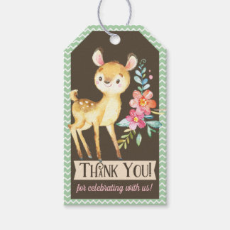 Woodland Deer Baby Shower Thank You Gift Tag