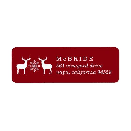 Woodland Deer Christmas Return Address