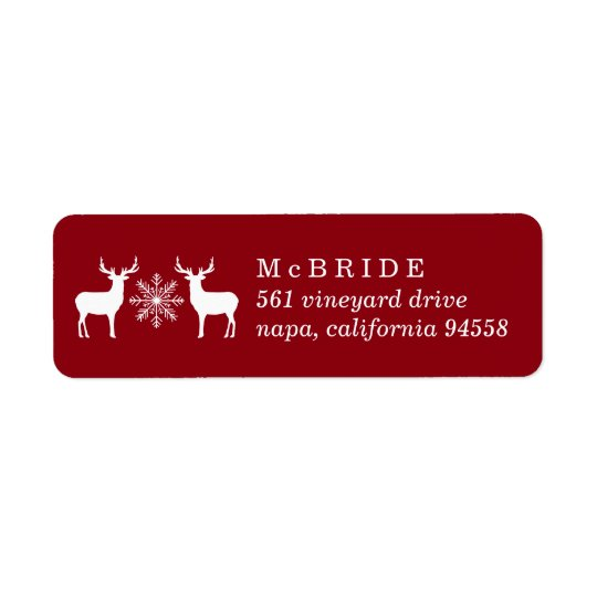 Woodland Deer Christmas Return Address Return Address Label