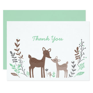 Woodland Deer Thank You Card