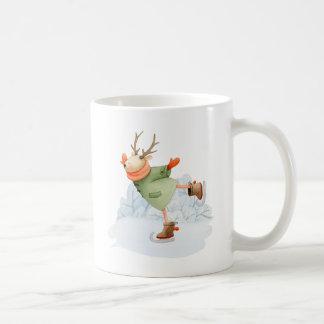 Woodland Deer Winter Ice Skater Coffee Mug