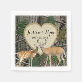 Woodland Deer with Heart Disposable Serviette