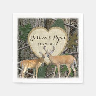 Woodland Deer with Heart Paper Napkin