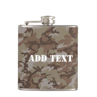 Woodland Desert Military Camouflage Hip Flask