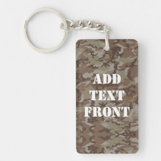 Woodland Desert Military Camouflage Key Ring