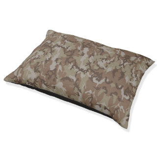 Woodland Desert Military Camouflage Pet Bed