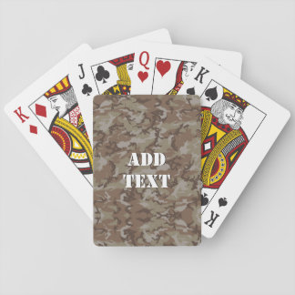Woodland Desert Military Camouflage Playing Cards