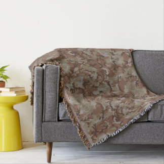 Woodland Desert Military Camouflage Throw Blanket