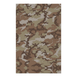 Woodland Desert MilitaryCamouflage Stationery Paper