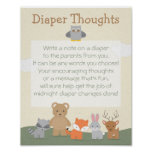 """Woodland """"Diaper Thoughts"""" Poster"""