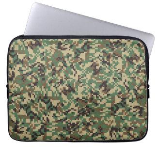 Woodland Digital Camouflage Laptop Computer Sleeve