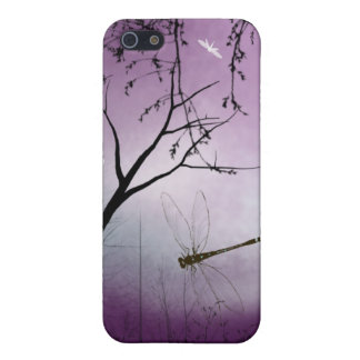 Woodland dragonflies purple evening iPhone case iPhone 5/5S Cases