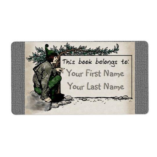 Woodland Elf (Personalised Bookplate)