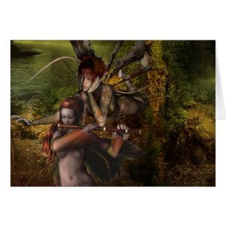 Woodland Fairies Greeting Card