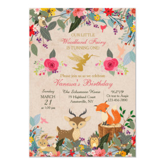 Woodland Invitations Announcements Zazzlecouk