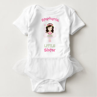 Woodland Fairy Princess Little Sister Baby Bodysuit