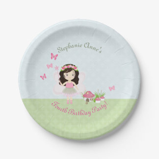 Woodland Fairy Princess Paper Plate