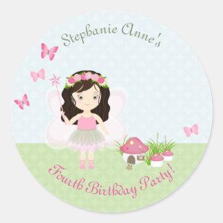 Woodland Fairy Princess Round Sticker