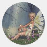 Woodland Fairy Round Sticker