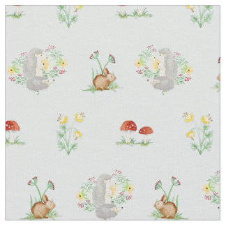 Woodland Fairytale Creatures Baby Girl Nursery Fabric