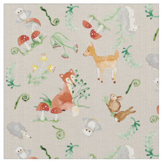 Woodland nursery fabric for Baby fabric uk