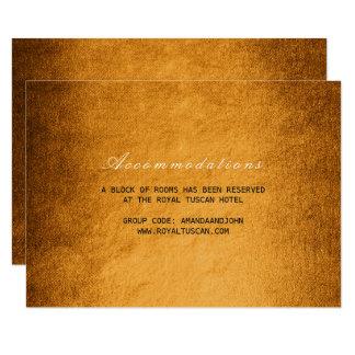 Woodland Fall Autumn  Wedding Hotel Accomodation 9 Cm X 13 Cm Invitation Card
