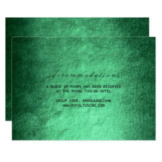 Woodland Fall Green Wedding Hotel Accomodation 9 Cm X 13 Cm Invitation Card