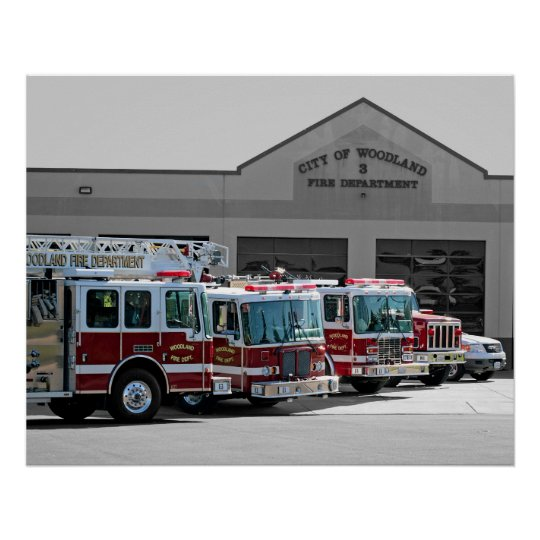 Woodland Fire Department Poster
