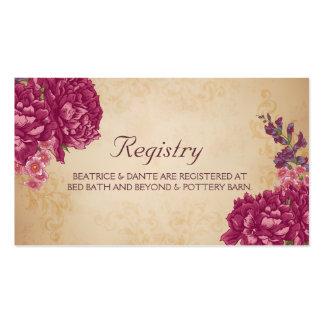 Woodland Floral Wedding Registry Card Pack Of Standard Business Cards