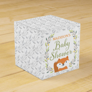 Woodland Forest Baby Shower Favor Boxes