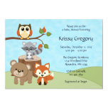 Woodland Forest Baby Shower Invitations