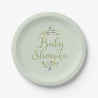 Woodland Forest Baby Shower Plates 7 Inch Paper Plate