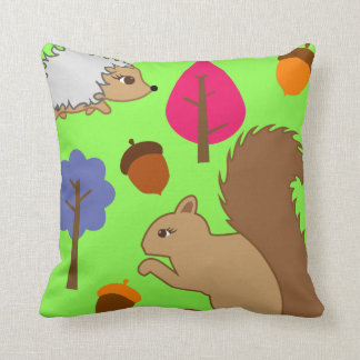 Woodland forest cute animal baby kids room cushion