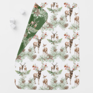 Woodland Forest Deer Baby Blanket