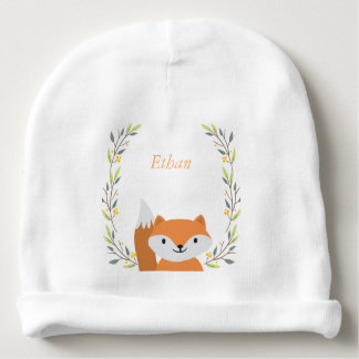 Woodland Forest Fox Baby Beanie