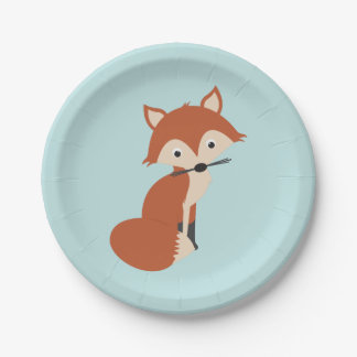 Woodland Fox 7 Inch Paper Plate