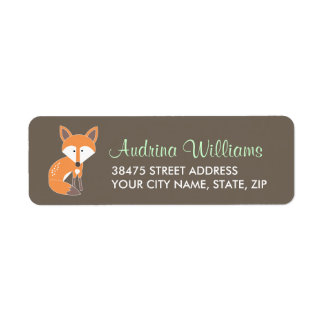 Woodland Fox Address Label