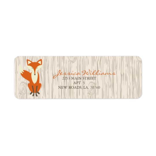 Woodland Fox Address Labels