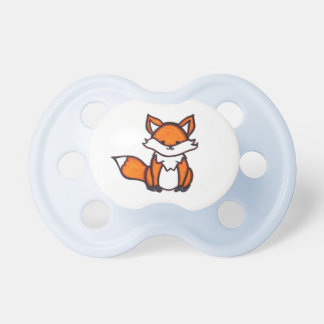 Woodland Fox Baby Pacifier (Blue, White or Pink)