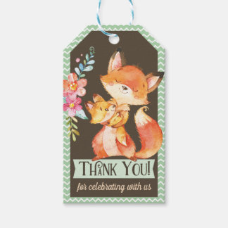 Woodland Fox Baby Shower Thank You Gift Tag