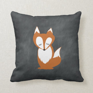 Woodland Fox Chalkboard pillow