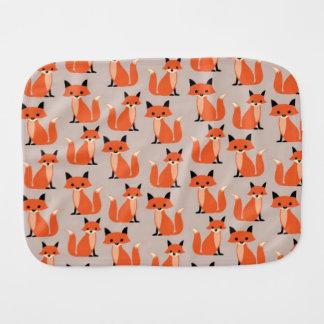 Woodland fox cute retro whimsical hipster foxes burp cloth