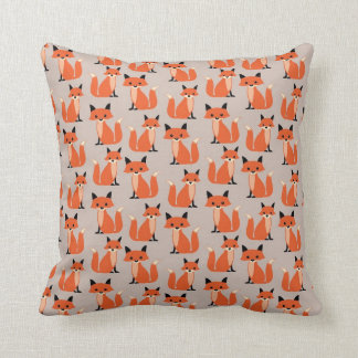 Woodland fox cute retro whimsical hipster foxes cushion