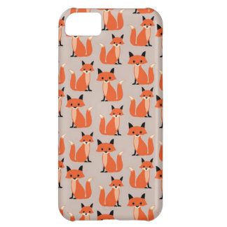 Woodland fox cute retro whimsical hipster foxes iPhone 5C case