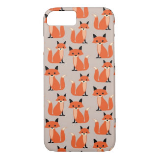 Woodland fox cute retro whimsical hipster foxes iPhone 8/7 case