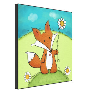 Woodland Fox Little Love for You Canvas Print