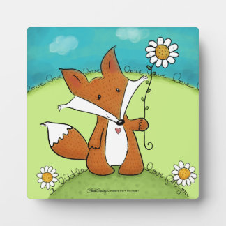Woodland Fox Little Love for You Plaque